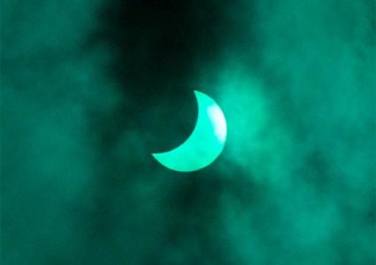 El eclipse de la década, desde el IES Zaidín-Vergeles