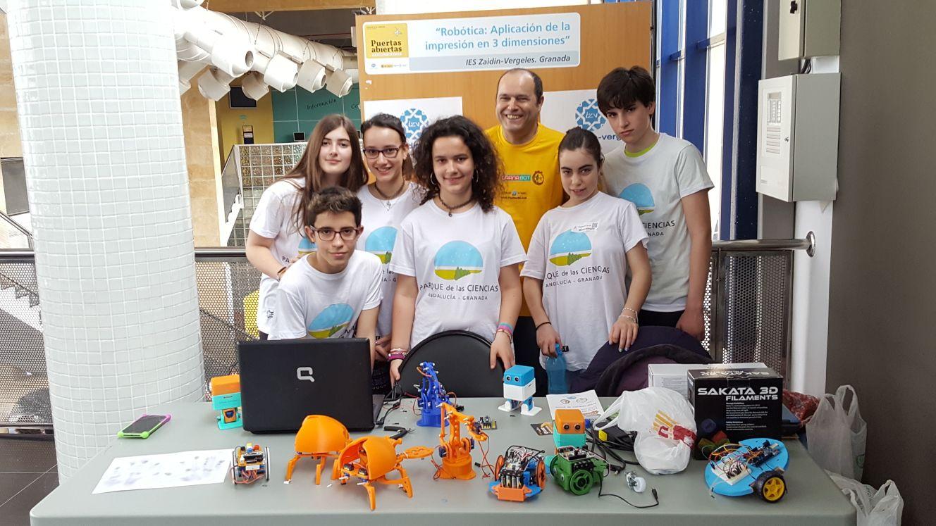 El IZV participa en la Fiesta Robótica del Parque de las Ciencias de Granada