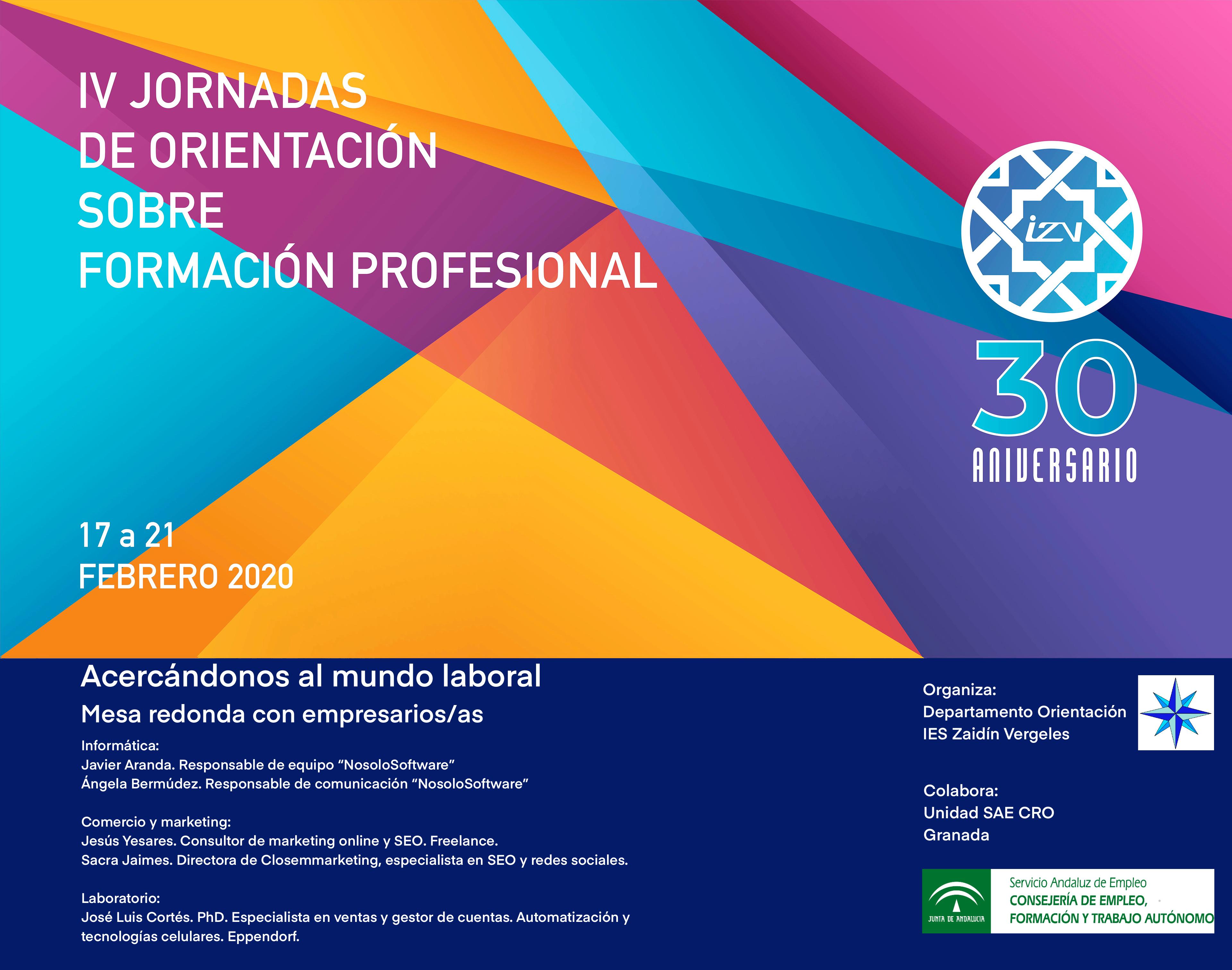 IV Jornadas de Orientación sobre Formación Profesional
