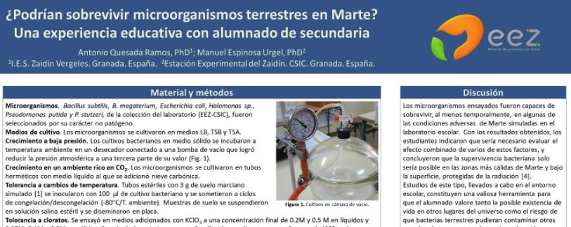 Nuestro proyecto sobre microorganismos y Marte en el V Congreso Internacional de Astrobiología Virtual de Colombia